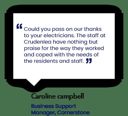 Client testimonial 2 - Gillespie & McLean Electrical Services LTD