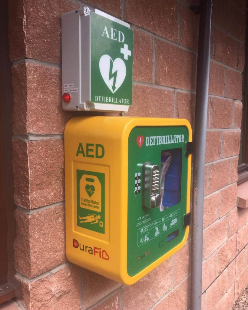 Mounted Defibrillator - Free Electrical Installation Gillespie & McLean Glasgow